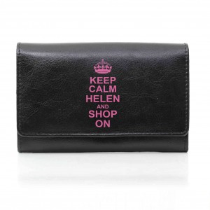 Black Keep Calm Purse