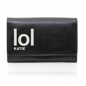 Black LOL Slogan Purse