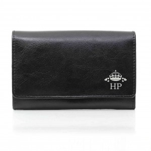 Crown black Purse