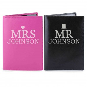 Mr & Mrs Passport Holders Set