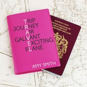 Travel Pink Passport Holder