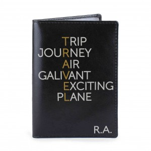 Travel Black Passport Holder