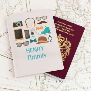 Male Essentials Cream Passport Holder