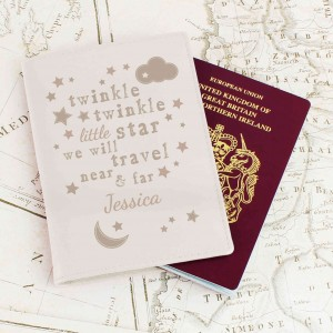 Twinkle Twinkle Cream Passport Holder
