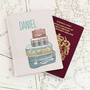 Suitcases Cream Passport Holder