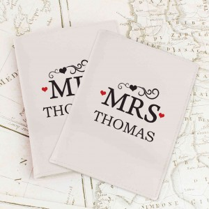 Mr & Mrs Cream Passport Holders