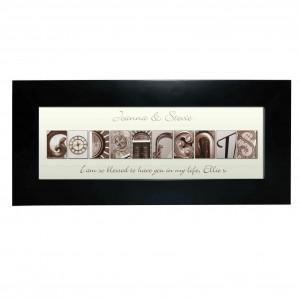 Affection Art Godparents Black Frame