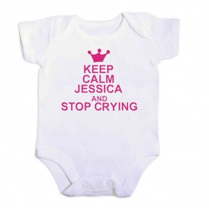 Pink Keep Calm 9-12 Months Baby Vest